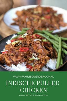 Recept Indische pullend chicken maken. Deze is zowel zoet als pittig! #recepten #kip #pulledchicken