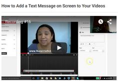 http://www.suzannesobers.com/how-to-add-a-text-message-on-screen-to-your-videos/