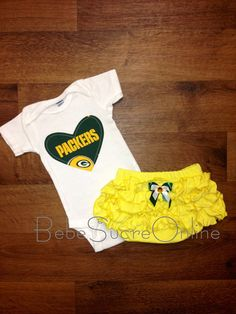 Green Bay Packers Girls Outfit by BebeSucreOnline on Etsy