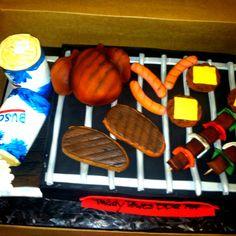 Barbecue Birthday Cake...