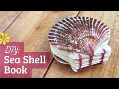 How to Make a Sea Shell Watercolor Book : Coptic Stitch by Sea Lemon