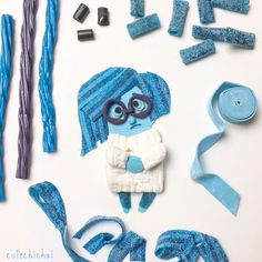 Food art. Sadness from the movie Inside Out.