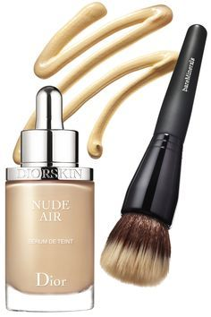 Update your kit with a cover-up that has a good-for-your-skin formula. New options from Dior and BareMinerals contain skin-care ingredients while also providing full coverage. Diorskin's foundation is loaded with antioxidants; all you need is three drops. BareMinerals' has hydrating marine botanicals. Buff it on with a soft brush. Diorskin Nude Air Serum Ultra-Fluid Serum Foundation SPF 25, $53, dior.com;BareMinerals Complexion Rescue Tinted Hydrating Gel Cream,