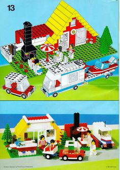 City - Holiday Home with Caravan [Lego 6388]