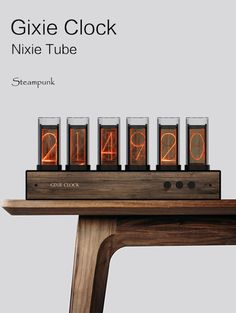 Gixie Clock:Most beautiful Nixie tube clock Arduino, Nixie Tube, Home Clock, Diy Clock, Retro Desk, Retro Clock, Diy Electronics, Electronics Projects, Steampunk Bedroom