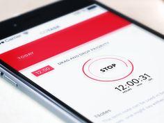 material ui, stop timer / Gleb Kuznetsov Mobile Design Patterns, Mobile Ui Design, Ui Ux Design, One Design, Android Ui, Mobile App Ui, User Experience Design, Screen Design, Interactive Design
