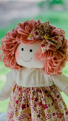 Fabric Toys, Fabric Gifts, Felt Fabric, Doll Clothes Patterns, Doll Patterns, Crochet Patterns, Doll Toys, Baby Dolls, Doll Hair