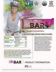 Make sure to get your Her Bars TODAY!! http://sandrachristian.idlife.com/snack_bars/index.html