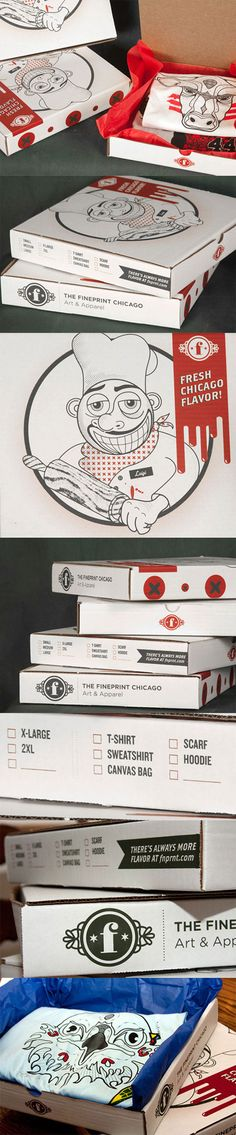 Creative T Shirt Packaging: The Fineprint Chicago