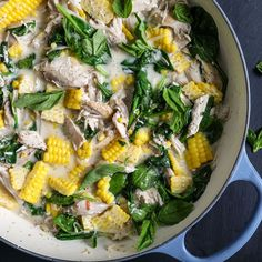 Food & Wine: Spicy Coconut Chicken Stew with Corn Hearty Stew Recipe, Stew Chicken Recipe, Chicken Recipes, Chicken Soup, Corn Recipes, Wine Recipes, Cooking Recipes, Healthy Recipes, Healthy Eats