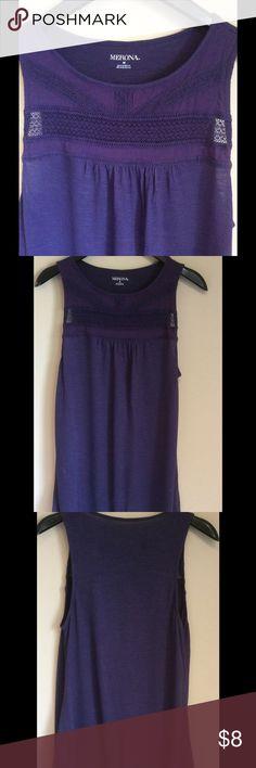 Purple Sleeveless Shirt women's medium Great condition! Wore once. Smoke/animal free Merona Tops Tank Tops