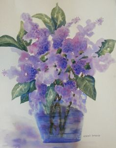 Look what I just sold on TheCraftStar: Cottage Lilacs-Watercolor Print of Purple Lilacs #uniquegifts @TheCraftStar