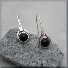 Black Onyx Earrings Sterling Silver Gemstone Stone Jewelry Dangle (SE987) by BonnyJewelry on Etsy https://www.etsy.com/listing/162000490/black-onyx-earrings-sterling-silver
