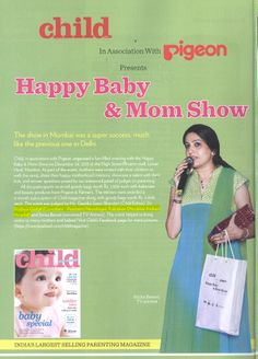 coverage on the event that was organized by The Child Magazine at Phoenix Mills, Lower Parel, Mumbai. Dr. Pradnya Gadgil of Kokilaben Hospital was one of the judges at the event.
