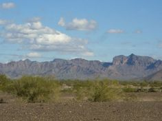 Boondocking in the desert near Quartzsite, Arizona.