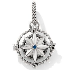 Sail away with the compass charm. Wear it on a bracelet as a reminder that adventures are awaiting.