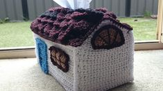 Craft Passions: House tissue box cover..# free # crochet pattern l...
