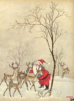 Santa & his reindeer.