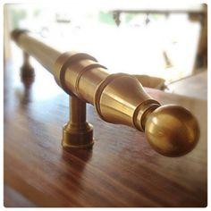 door entry pull, brass & alabaster   Wilmette Hardware