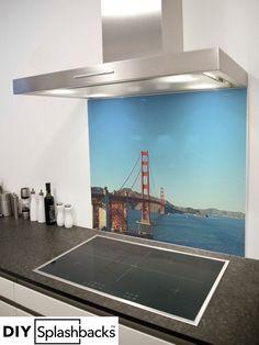 Glass Splashbacks for Kitchens Printed Glass Splashbacks, Ping Pong Table, Capital City, Golden Gate Bridge, Wind Turbine, Prints, San Francisco, Image, Kitchen