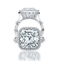 Can this be in the running for my engagement ring?  please?!?!Platinum Cushion-Cut Diamond Ring