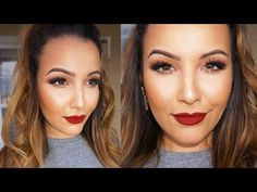 Copper Glitter & Burgundy Lips Tutorial - Amanda Ensing