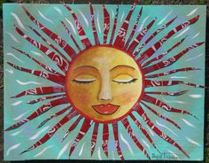 Recycled Folk Art painting made from Coca Cola cans by Peggy Thibodeau www.peggyart.com