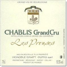 Chablis Grand Cru - Les Preuses - 2008 (Vignoble Dampt)