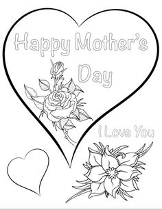 Free Printable Mother's Day Coloring Pages – The Housewife Modern