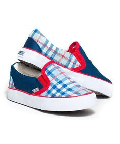 Take a look at this Blue & Red Plaid Portside Slip-On Sneaker by XOLO Shoes on today! Toddler Boy Shoes, Toddler Boy Outfits, Sparkle Shoes, Blue Sparkles, Kids Sneakers, Shoes Sneakers, Blue Plaid, Blue Shoes, Slip On Shoes