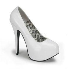 Bordello by Pleaser Women's Teeze-06 Platform Pump $56-gorjuss, would be so cute wit black polkie dots