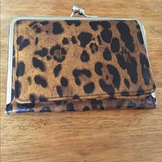 Leopard Print Wallet. Cool, Fun Leopard Print Wallet With Compartment for Cash and Credit Cards. Never Used. Other