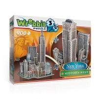 Puzzle 3D New York Midtown West - 900 elementów  #puzzle #puzzle 3d