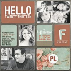 This next page, by giselifreitas, features pretty vintage-like colors pared with black and white pictures. I totally adore the look. That qu...