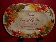 222 FIFTH Dinnerware Autumn Celebration Thanksgiving Harvest Platter Fall & 222 FIFTH AUTUMN CELEBRATION HARVEST THANKSGIVING | Dinnerware for ...