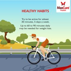 Healthy Habits Like Cycling can make you more proactive  Visit: https://www.maxcurehospitals.com/ #MaxCureHospitals #MaxCure #HealthyHabits #Cycling #RegularExercise #Proactive #WeightLoss #DailyExercise #HealthyDiet #StayFit #Hyderabad