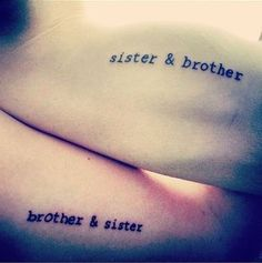 Für alle Geschwister: Matching-Tattoo Ideen, die mehr als genial sind! The relationship between siblings is something very special. You grew up together, you have the same parents and you know your whole life … Bro Tattoos, Brother Tattoos, Sibling Tattoos, Future Tattoos, Twin Tattoos, Small Back Tattoos, Small Sister Tattoos, Brother Symbol, Tattoo Familie