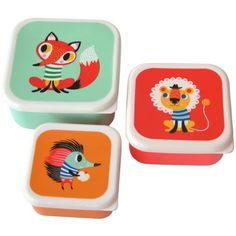 Helen Dardik lunchbox set animals