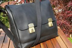 89c04eb2bc Shoply.com -ISAMBARD Clifton Padded Laptop Satchel Black Soft Tumbled  Leather. Only £475.00
