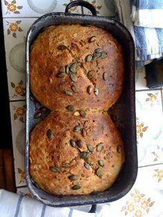 Czech home made bread - food of Czechia Czech Recipes, Russian Recipes, Ethnic Recipes, Bread Recipes, Baking Recipes, Good Food, Yummy Food, Home Baking, Bread Baking