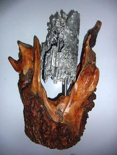 Metallstein - Galerie Wooden Art, Food, Stones, Metal, Kunst, Wood Art, Essen, Meals, Yemek