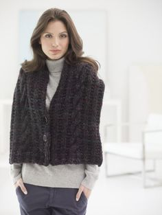 Quick Knit Buttoned Scarf