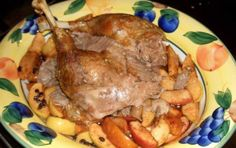 Roast Goose with Caramelized Apples
