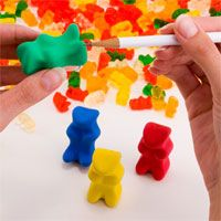 Gummy bear eraser/sharpener!