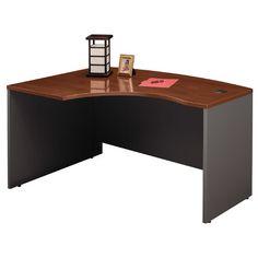 Bush Business Furniture Series C Left Bow Corner Desk Shell Finish: