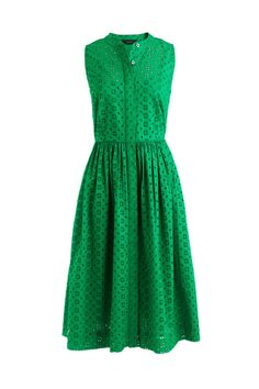 Throw on this green J. Crew Eyelet Shirtdress for a quick summer outfit.