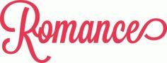 romance script lettering title