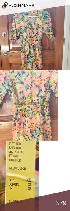 aad45608c2b Coral short sleeve Gianni Bini floral Romper NWT Coral Floral Gianni Bini  Floral Romper NWT Size
