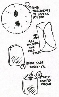 "Making ""Bath Tea"" Bags from Coffee Filters & Bath Tea Recipes"