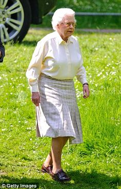 Her Majesty Queen Elizabeth II attends day 3 of the Windsor Horse Show May 17, 2014